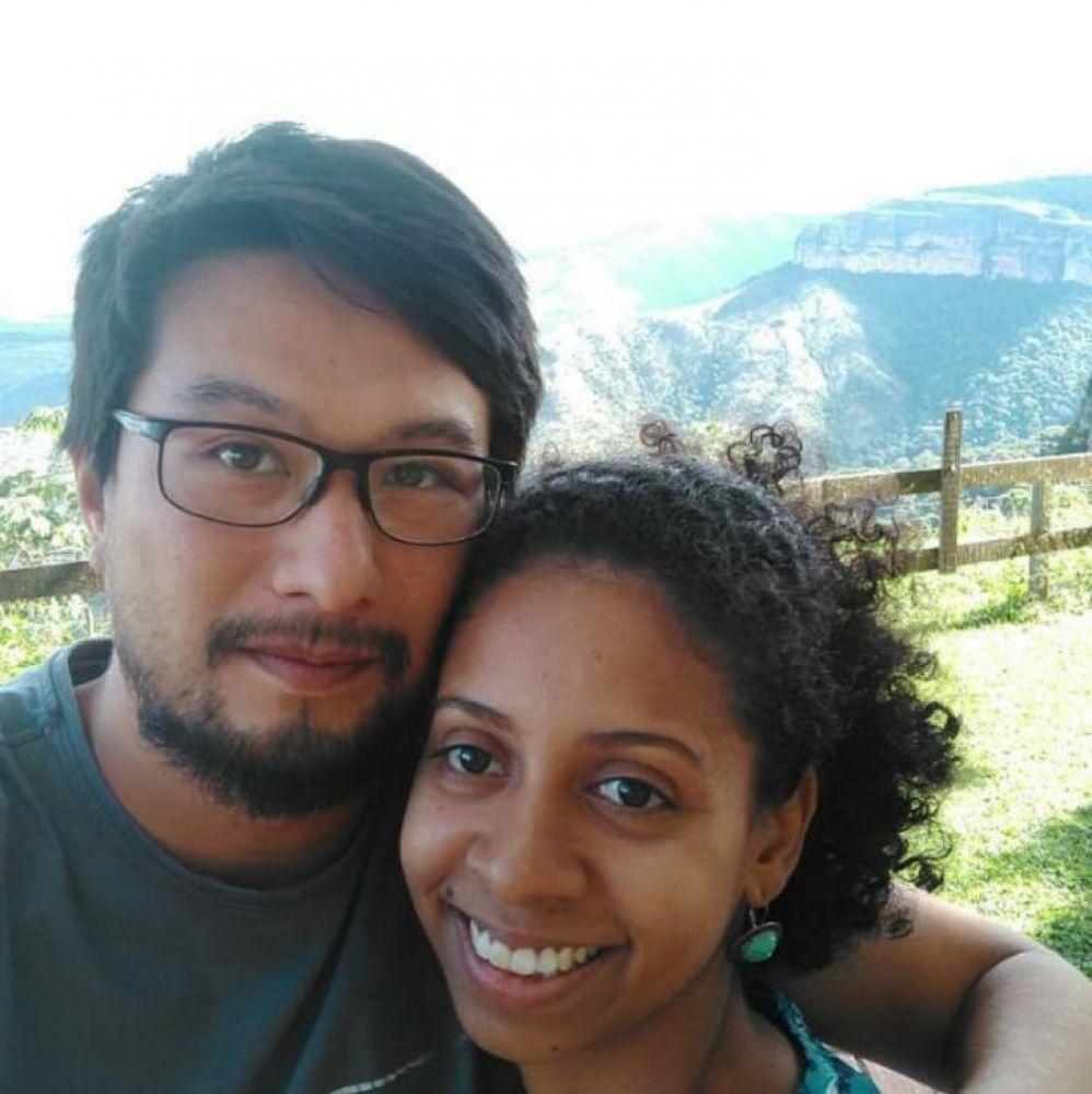 Plínio e esposa