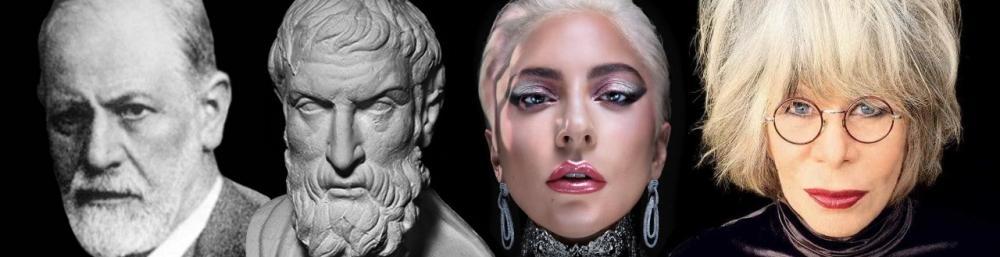 Imagem: Freud, Epicuro, Lady Gaga e Rita Lee