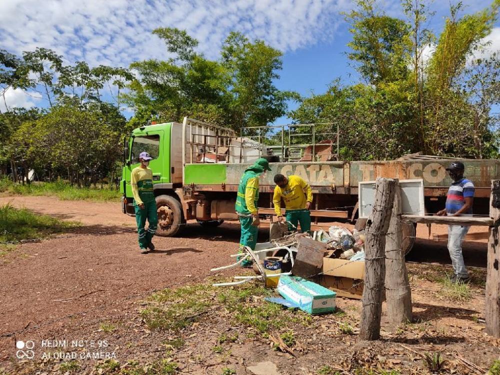 Operação Cata-Treco na comunidade São Gerônimo - Foto por: Prefeitura de Cuiabá