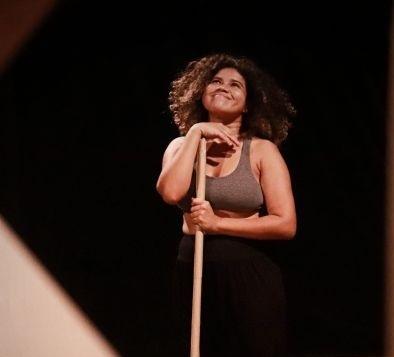 A atriz Edilaine Duarte. Foto: Lucas Lemos