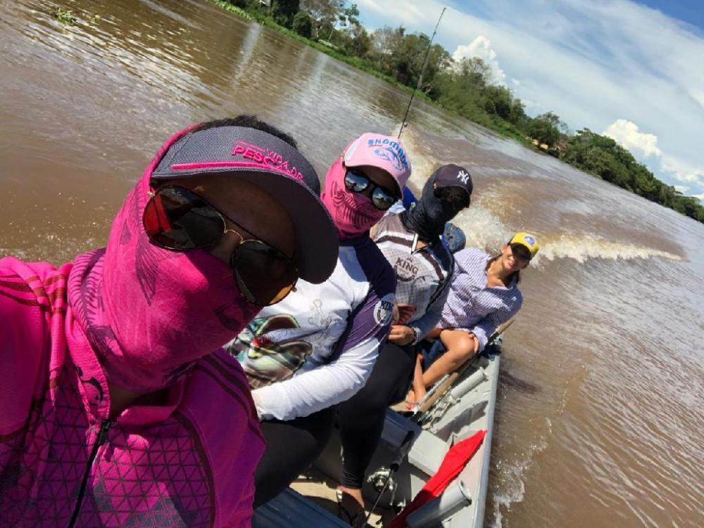 Grupo formado por cinco amigas se reúne uma vez por ano para praticar pesca esportiva - Foto por: Arquivo Pessoal